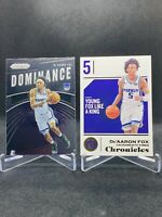 De'Aaron Fox 2018-19 Panini Chronicles /10 SSP 2019-20 Prizm Dominance KINGS