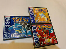 NINTENDO POKEMON COMPLETE  RED BLUE YELLOW VERSIONS gameboy LOT SET AUTHENTIC