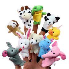10x Family Finger Puppets Cloth Doll Baby Educational Hand Cartoon Animal Toys