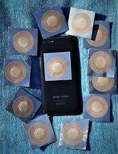 Shungite Cell Phone Protection with Silver x12 FAMILY PACK (4cmx4cm) +Free Gift