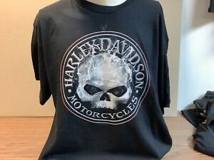 Harley-Davidson Men's XL New black T-shirt Willie G Smoky Skull