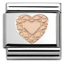 Genuine Nomination 9ct Rose Gold Diamond HEART Classic Charm..