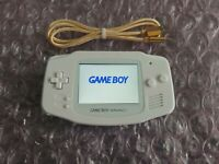 Nintendo Gameboy Advance GBA IPS V2 All White + Rechargeable Battery