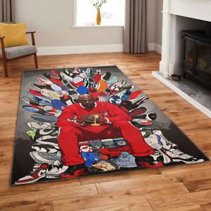 Michael Jordan Basketball Legendary Sneaker Collection Area Rug Gift for Fans
