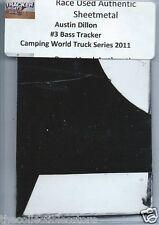 AUSTIN DILLON BASS TRACKER TRUCK SERIES AUTHENTIC NASCAR RACE USED SHEETMETAL #1