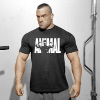 Bodybuilding Gym T-Shirt Mens Workout Shirt Muscle Tee Men Fitness Clothing Tops