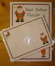 Letter to Father Christmas Santa Festive letter writing paper stationery (red)