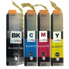 4 Ink Cartridges for Brother LC3217Bk, LC3217C, LC3217M, LC3217Y Compatible