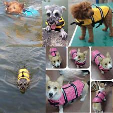 Pet PFD Dog Puppy Life Jacket Saver Swimming Vest Clothes Reflective Boating AU