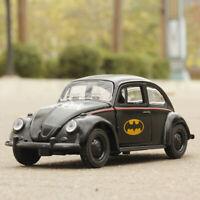 1:32 Batman Pattern VW Beetle Vintage Car Model Diecast Gift Toy Vehicle Black