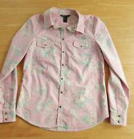 MNG MANGO Stretch Bluse Gr. M / 40 rosa grün