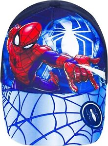 Spiderman Baseball Cap Hat. Approx Ages 4-8 Years. Blue