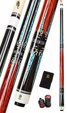 New listing Collapsar CXT010 Pool Cue with Soft CaseBlack with Cream Points and Turquoise...