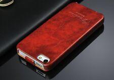iPhone 5s/5 Farbe Braun YL  Leder Schutzhülle Luxus Tasche Klapp Etui Flip Case