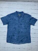 Batik Bay Men's Button Down Size L Easy Care Short Sleeves Hawaiian Dress Shirt