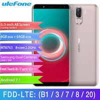 Ulefone Face ID 64GB 4G Smartphone Dual SIM Android Handy Ohne Vertrag Octa Core
