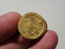 Ancient Gold Solidus, Byzantine AV coin JUSTINIAN I 527-565 A.D.