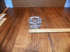 Vintage Art Deco Clear Glass Inkwell  - No Cap                                 $