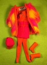Barbie Mod Cousin Francie Wild Bunch Reproduction Outfit Fuchsia and Orange