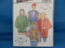 4748 Burda Boy's Girl's Kids Windbreaker Rain Jacket Coat Size 4 6 8 10 12