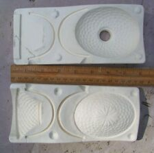 Ceramic Mold - Duncan #902 - 2 Small Baskets  -1 Cracked and Repaired- See photo