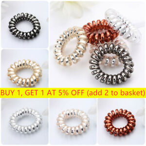 New Rubber Band Headwear Spiral Shape Hair Ties Telephone Wire Hair Accessories