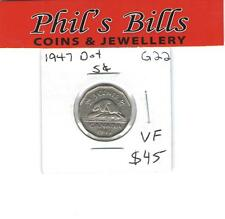 1947 DOT 5 CENT GRADED VF $ 45.00 G22