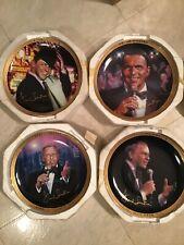 Franklin Mint Frank Sinatra Ltd Ed Collector Musical Plates Lot of 4