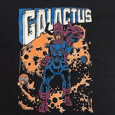 Marvel Comics Galactus T Shirt Vintage 80s 1986 Large Black Screen Stars Tag
