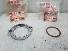 NOS New OEM Kawasaki Exhaust Pipe Muffler Holder Clamp & Insert KT250 18069-058