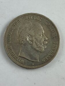 1875 A German States Prussia 5 Mark Silver Coin KM #503  ***NO RESERVE***