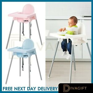 Adjustable 3-In-1 Baby Highchair Infant High Feeding Seat Toddler Table Chair UK