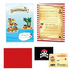 Ahoi! Piratenparty - Pirat - Einladungskarten Set Kindergeburtstag - 24-teilig