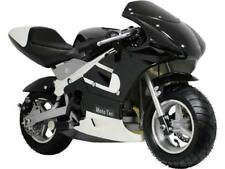 MotoTec Gas Pocket Bike 33cc 2-Stroke Black Front Rear Brakes Chain Air Cooled