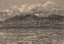 Mount Bromo Volcano, Dasar District, Java. Indonesia. East Indies 1885 print