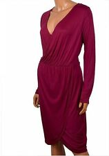 V Neck Party Long Sleeve Wrap Dresses