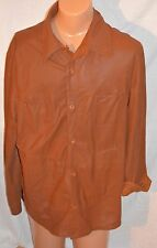 Bod & Christensen Men's Leather Blazer Coat Jacket SHIRT Size 46 M L reversible