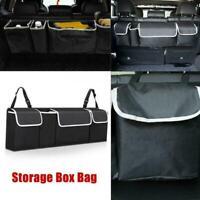 Car Boot Organiser Large Storage Bag Pocket Back Seat Travel Hanger Tidy Ha R2F3