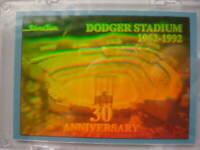 Dodgers Stadium Hologram Card Night May 2 1992 Baseball Card.. Free Shipping