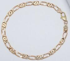 ESTATE VINTAGE 9.0g SOLID 14K YELLOW GOLD 8.25 inch 4.50 mm FIGARO LINK BRACELET