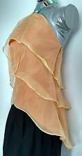 £200 Designer LARA PRESBER evening top blouse size 8 100% Silk dipped hem ruched
