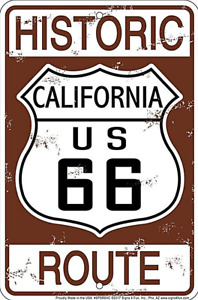 Historic Route 66 California  embossed aluminium sign 300mm x 200mm   (sf)