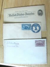 1892 STAMPS ON COVER & GRANT 1 CENT POSTCARD - NOT MAILED