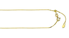 Adjustable 14K Yellow Gold Box Chain .5mm Fully Adjustable Up to 20 inch Length