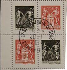 Timbres France Type sage issu de carnet (4x0,80 €) bloc oblit cachet rond