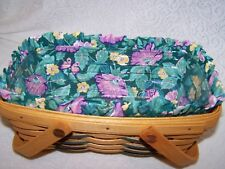 Longaberger Floral Liner for 93 Easter Basket also small chore woven memories