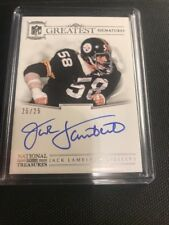 2017 National Treasures Jack Lambert The Greatest Signatures Auto 25/25 Steelers