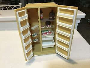 Vintage Marx Sindy Doll Refrigerator & Accessories #1239 -1979