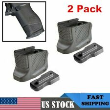For Glock 43 Tactical Defense Grip Magazine Base Plate Enhanced Extension 2 Pack
