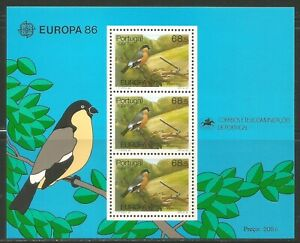 Portugal/Azores 1986 Europa/Conservation ss--Attractive Topical (356a) MNH